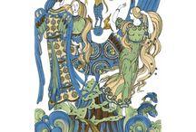 Slavic mythology / Slavic mythology postcards