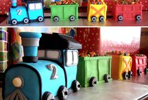 Train Themed Party / Kids party ideas with food, cake, games, invitations