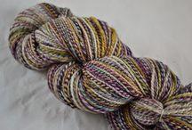 handspun / handspun yarns and projects using Bee Mice Elf fibers