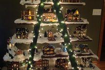 Repisa para casas de Navidad