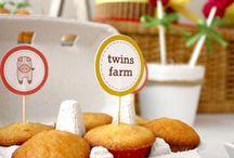 Eve and Rebekahs Birthday / Farmyard ideas
