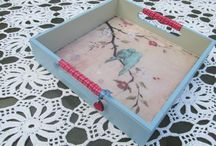 Decoupage wooden tray