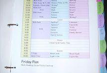 Lesson Plans/Schedules/Curriculum