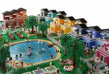 Legobyggen stad/hus/inredning