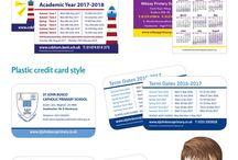 School Term Date Cards