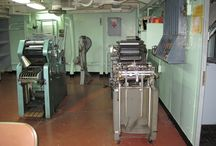 Print Shop / Located on the Fourth Deck and available during special flashlight tours only.