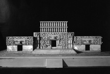 Maya Architectural Models / created during the great depression and exhibited at the Brooklyn Museum.