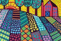 FOLK ART / Beautiful simple colourful art