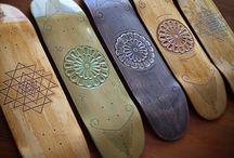 Skateboard / Tavole da skate intagliate a mano