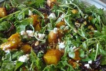 salads with roast pumpkin