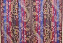Woven Paisley Curtains / Jamawar wone curtains from Kashmir, India