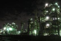 京浜地区工場夜景 Night View of the Factory Zone of Kawasaki