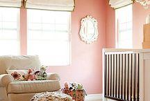 Babyrom til frøkna / Baby rom ideas for girls.