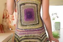 Marisabel crochet - Oct 2014. Granny dress. The diagram for the square is at site