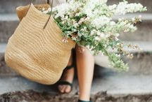 Straw bags.