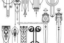 Art Deco/Art Nouveau patterns - ideas for tatttoos