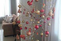Árvore de Natal de galhos secos