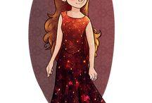 Girl character cartoon