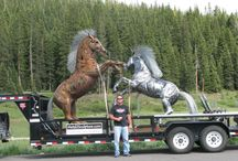 """Metal 2 Sculpture® Custom Sculpture, Artist Dwayne Cranford / Metal sculptor, Dwayne Cranford, Artist Statement """"My sculpture is a reflection of my desire to create challenging show-stopping pieces of art. I choose to work with metal because of its durability and longevity. Being able to stop a horse in action, capture and maintain the definition of its muscle structure and strength is my greatest reward. I am challenged by the complexity and beauty of the horse and with each piece I try a more complex stance."""""""