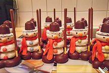 weihnachtsmenüs und tischdeko