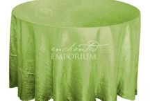 Crushed Taffeta Round Table Cloths for Hire