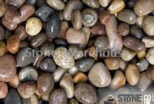 Scottish Pebbles in Gardens / Scottish pebbles, boulder and cobbles in lots of different gardens