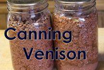 Canning venison