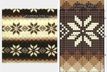 robótki na drutach / wzory robótek i ściegów na drutach