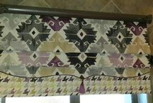 Roman Blinds / We do a variety of different kinds of blinds, including Roman and Dummy Roman Blinds. We can customize it to your taste and preference - choose your own fabric, trim, shape etc..