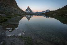 Schweiz Mattahorn Riffelsee