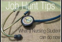 Nursing School + Job Tips / Ace nursing school and get the job of your dreams with these tips.