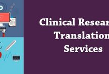 Clinical Research Translation services