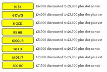 Sept 2015 special offers / Numbers on special offer for Sept