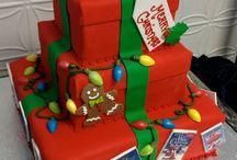 Holiday/christmas cakes