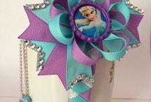 Hair bows: Disney inspired hair bows