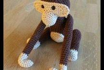 Hæklede dyr abe