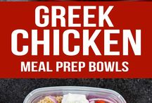 Greek chicken pots