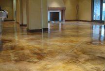 Concrete kitchen floor