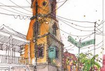 도시 스케치