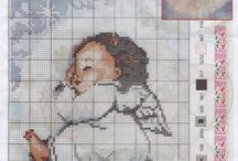 Cross stitch angle