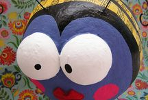PAPIER MACHE CREATIE`S / allerlei leuke dingen van papier machee