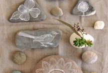 ζωγραφικη σε πετρες