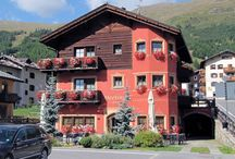"""Hotel Meeting Livigno / The Hotel Meeting offers from the other thanks to the unmistakable Style. It was built up very recently with highly innovative materials and is equipped with any comfort. It is located in \""""Locality San Rocco\"""", a strategy place for ski funs because it is veri close to the ski-lits."""