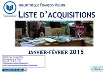 Liste d'acquisitions / Nos listes d'acquisitions bimensuel