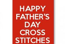 happy father's day cross stitches