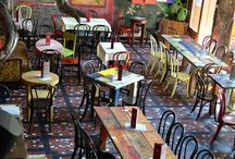 Tables chairs restaurants bar cafe