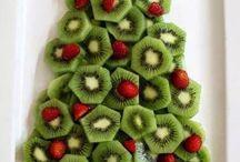 Χριστουγεννιάτικη διακόσμηση με φρούτα και λαχανικά