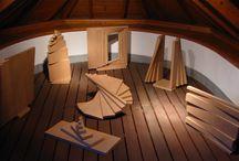 """Fibonacci Fragments"", engineered wood"