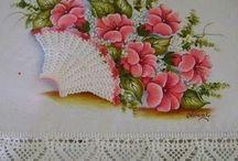 pintura e crochê