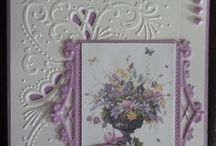 Cards using embossing folders